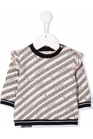 Givenchy Kids Sweaters - Chain-print fleece sweatshirt