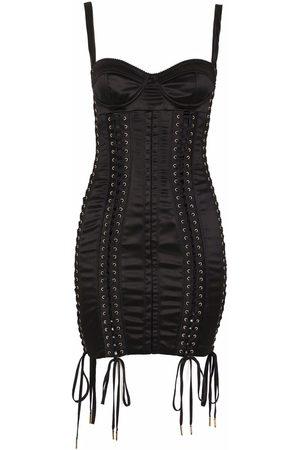 Dolce & Gabbana Lace-up sleeveless dress