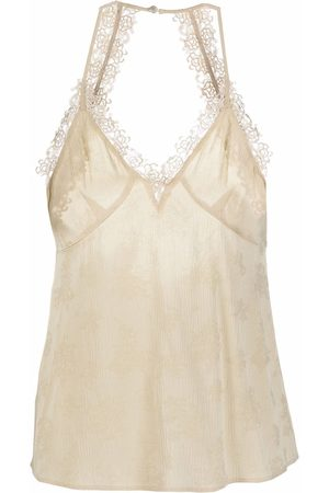 Pinko Dames Tanktops - Embroidered-detail V-neck top