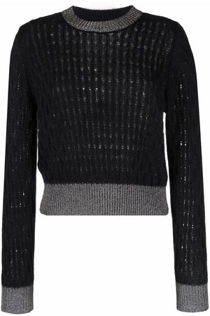 Pinko Dames Gebreide truien - Contrast-trim knitted jumper