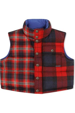 Dolce & Gabbana Kids Checked-patchwork cropped gilet
