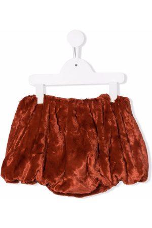 Wolf & Rita Francisca faux-fur ruched shorts