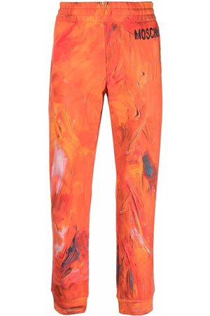 Moschino Paint-effect joggers