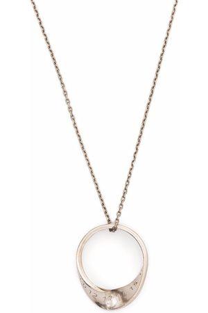 Maison Margiela Twisted ring pendant necklace