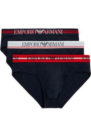 Emporio Armani Heren Slips - Tripack Slips MAN Knitted Underwear SET