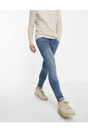 French Connection Skinny stretch jeans in mid blue-Navy