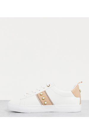 Miss KG Wide fit kaylee lace up trainers in white