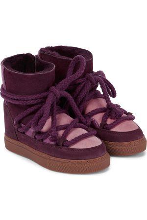 INUIKII Kids Patchwork Sneaker suede boots