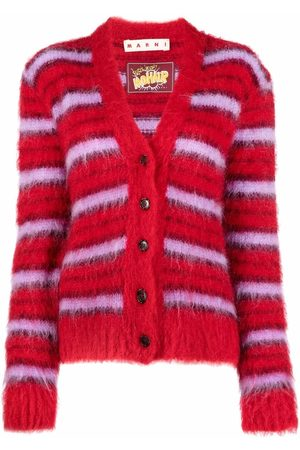 Marni Dames Cardigans - Striped knitted cardigan