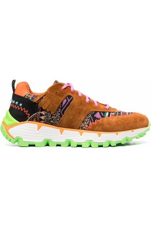 Etro Heren Lage sneakers - Patchwork chunky sneakers