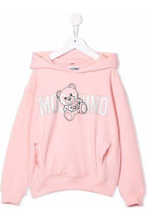 Moschino Glitter logo hoodie