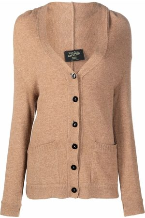 Jean Paul Gaultier Dames Cardigans - 1990s V-neck knitted cardigan