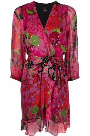 Pinko Floral-print wrap dress