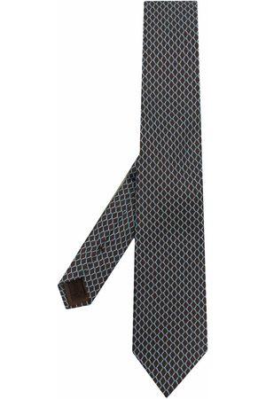 Church's Geometric-print silk tie