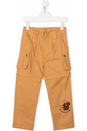 Mini Rodini Jongens Cargo's - Embroidered-logo cargo trousers