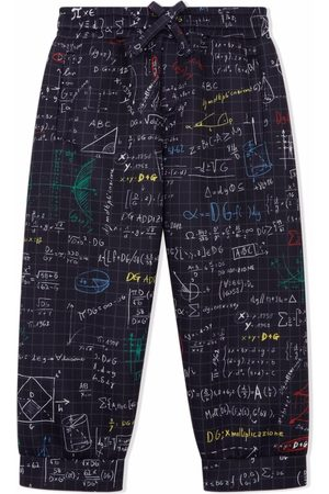 Dolce & Gabbana Elasticated algebra-print trousers