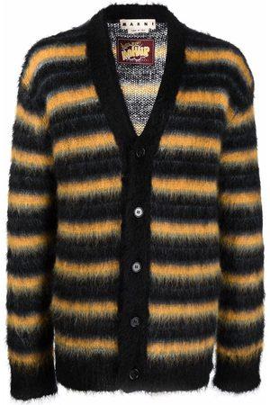 Marni Heren Cardigans - Stripe-pattern cardigan