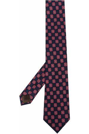 Church's Heren Vlinderdassen - Geometric print silk tie