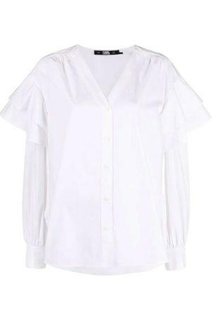 Karl Lagerfeld Blouses - V-Neck Skjorte