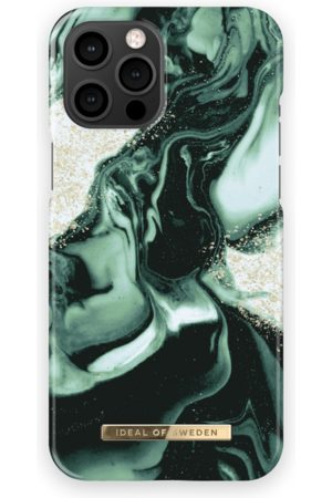IDEAL OF SWEDEN Telefoon hoesjes - Fashion Case iPhone 13 Pro Max Golden Olive Marble
