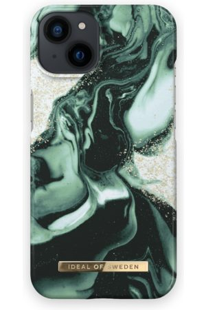 IDEAL OF SWEDEN Telefoon hoesjes - Fashion Case iPhone 13 Golden Olive Marble