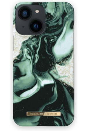 IDEAL OF SWEDEN Telefoon hoesjes - Fashion Case iPhone 13 Mini Golden Olive Marble