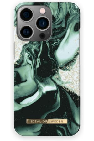 IDEAL OF SWEDEN Telefoon hoesjes - Fashion Case iPhone 13 Pro Golden Olive Marble