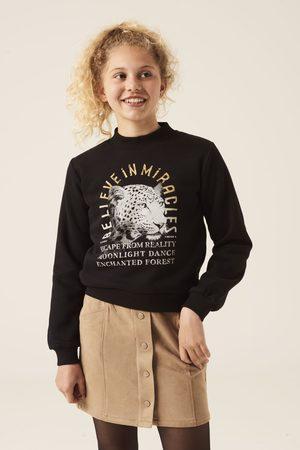 Garcia Meisjes Sweaters - Zwarte sweater met opdruk i12461 1755 off black