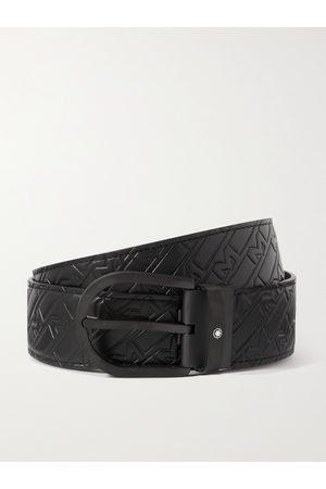 Montblanc 4.5cm Logo-Embossed Leather Belt