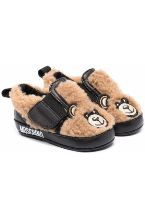 Moschino Teddy Bear sheepskin shoes