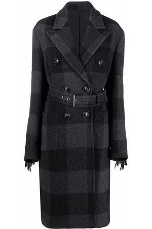 Pinko Tassel-trim checked coat