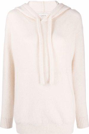 LANEUS Dames Gebreide truien - Drawstring-hooded jumper