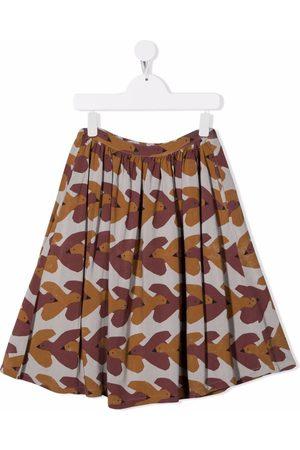 Bobo Choses Meisjes Geprinte rokken - All-over swallows-print midi skirt
