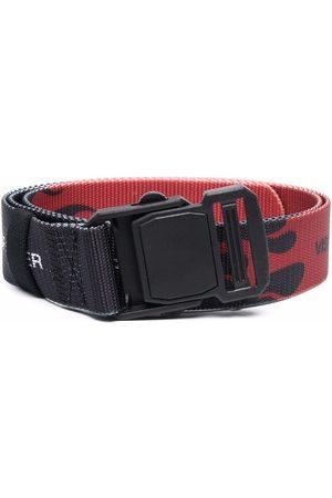 Vision Of Super Jongens Riemen - Flame-print buckle belt