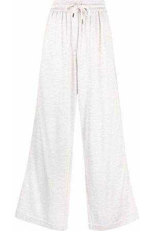 Brunello Cucinelli Dames Wijde broeken - Wide-leg drawstring trousers