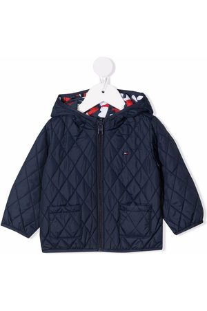 Tommy Hilfiger Donsjassen - Abstract-print quilted jacket