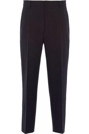 Prada Dames Broeken - Pinstripe-pattern tapered trousers