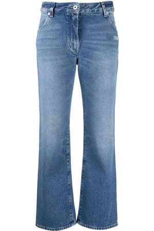 OFF-WHITE Flared cropped denim jeans