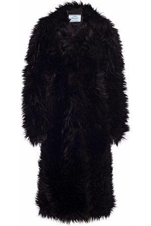 Prada Dames Bontjassen - Single-breasted faux-fur coat