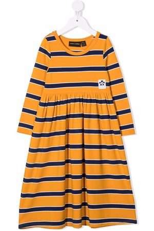 Mini Rodini Meisjes Casual jurken - Stripe-pattern long-sleeve dress
