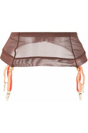 MAISON CLOSE Dames Bretels - Semi-sheer garter belt