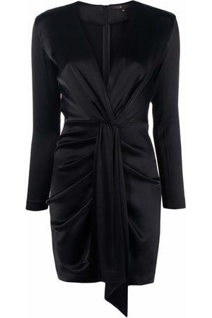 Maje Wrap tie-waist mini dress
