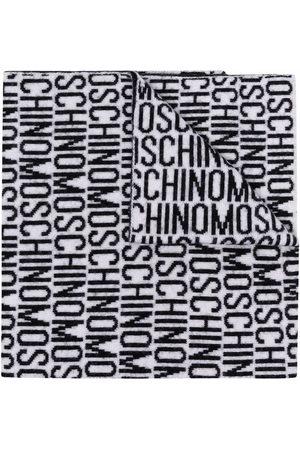 Moschino Heren Sjaals - All-over logo print scarf