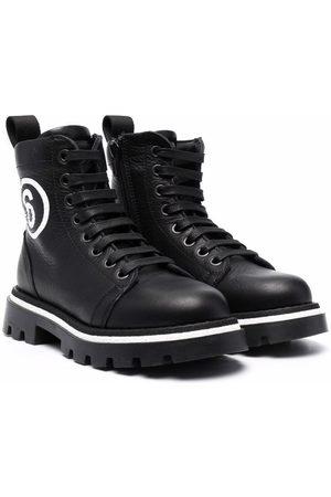MM6 KIDS Jongens Laarzen - Side logo-print boots