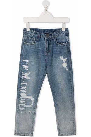 MONNALISA Explorer-print slim-fit jeans