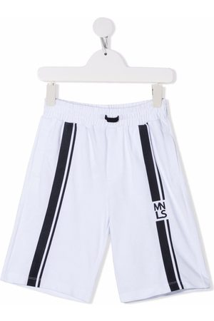 MONNALISA Jongens Shorts - Logo tape track shorts