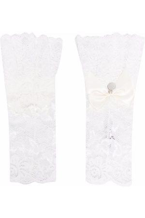 MONNALISA Handschoenen - TEEN lace bow-embellished arm warmers