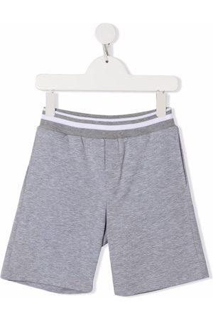 MONNALISA Striped-waistband track shorts