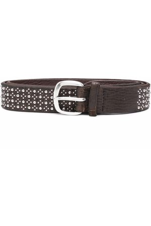 Orciani Heren Riemen - Stud-embellished leather belt