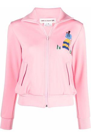 Comme des Garçons Embroidered motif zipped jacket